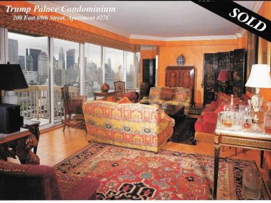 TRUMP PALACE 200 East 69th Street Apt 27C, 6.5 rooms, 4 beds/4 baths - SOLD!